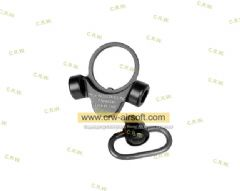 2 Way M4 GBB QD Sling Swivel Adaptor (BK) SAD-0006 A